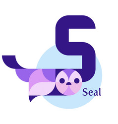 letter s - seal vector image
