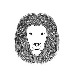 lion head animal glyph icon vector image