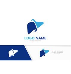 Liver care logo combination internal organ vector