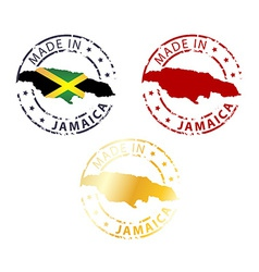 Made in Jamaica stamp vector