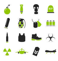 Military and war icons vector