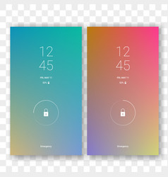 mobile screen lock display gradient vector image