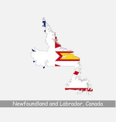 newfoundland and labrador canada map flag vector image