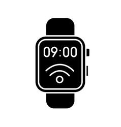 Nfc smartwatch glyph icon vector