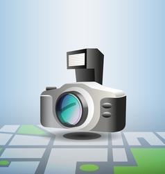 Photo pin vector image