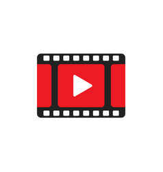 Play icon play video in flat style vector