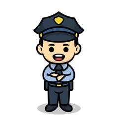 policeman cute cartoon character vector image