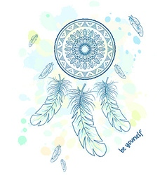printable hand drawn with dream catcher with vector image
