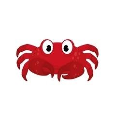 Sea crab animal vector image