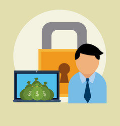 secure savings and investment vector image