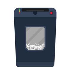 Shredder paper machine flat document destroy vector