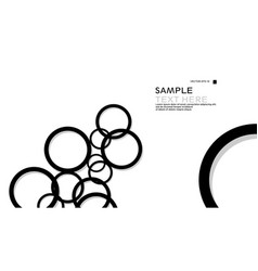 simple circles background with color black and vector image