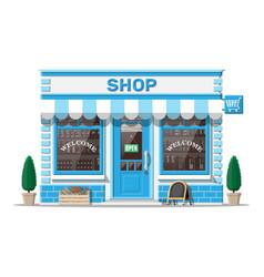 small european style shop exterior vector image