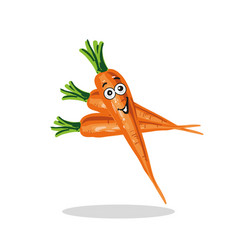 smiling carrot cartoon character vector image
