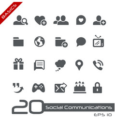 social communications - basics vector image