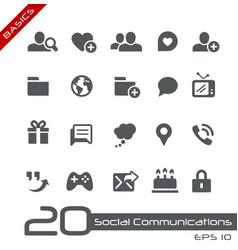 Social communications - basics vector