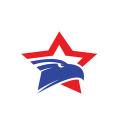 Star eagle logo vector