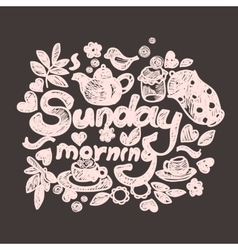 Sunday morning doodles vector
