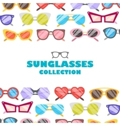 Sunglasses icons background vector