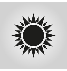 The sun icon Sunrise and sunshine weather symbol vector image