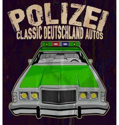 The vintage police car vector