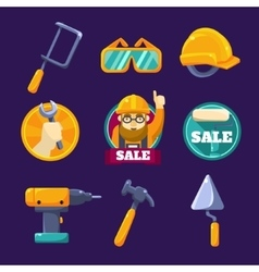 Tools for Building Sale Set vector