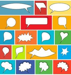 Trendy speech bubbles set vector image