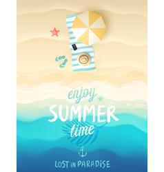 tropical beach poster vector image