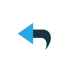 Undo colorful icon symbol premium quality vector