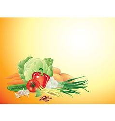 vegetables horizontal background vector image