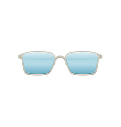 Wayfarer sunglasses with blue lenses and metallic vector
