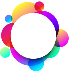 white round background with colour circles vector image