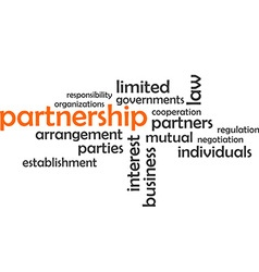 Word cloud partnership vector