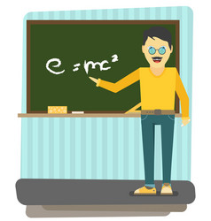 character - teacher education concept flat style vector image