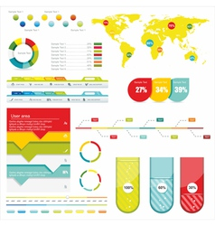 World Map and Information vector image vector image
