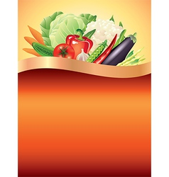 vegetables vertical background vector image