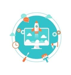 Website launch content development and vector