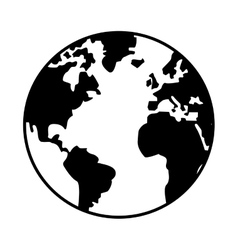 world map globe earth icon vector image