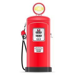 gasoline filling old retro vector image