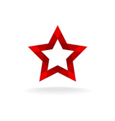 Red star logo vector image