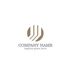 round shape company logo vector image