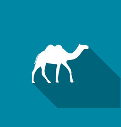 camel with a long shadow camel with two humps vector image vector image