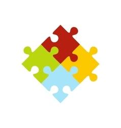 Colorful puzzle icon vector image