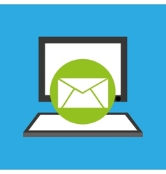 pc device network envelope mail media icon vector image vector image