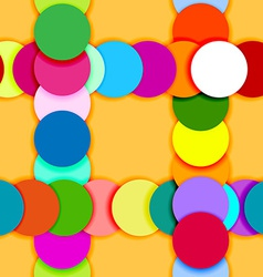 Seamless pattern frame made of color circles vector image