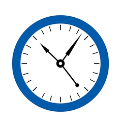 A clock on the wall vector