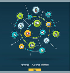 Abstract social media background digital connect vector