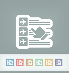 airline booking icon vector image