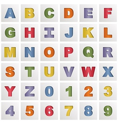 Alphabet squares vector