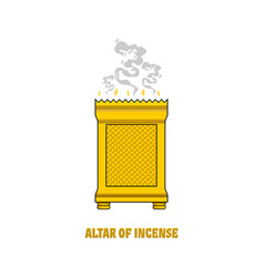 Altar incense installed in tabernacle vector